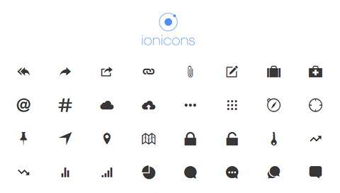Iconos ionic predeterminados