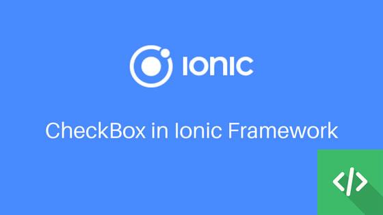 checkbox ionix