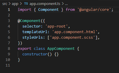 Directorios Ionic, app component