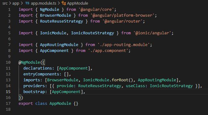 Ionic documents app module