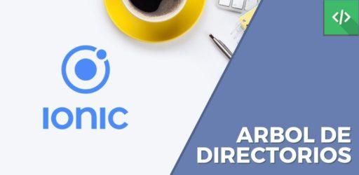 Arbol de directorios Ionic